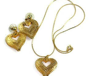 etsy, gift for her, and gold tone heart image