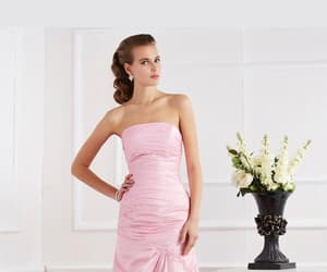 mermaid evening dress and sleeveless prom dresses image