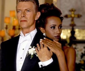 david bowie and Iman image