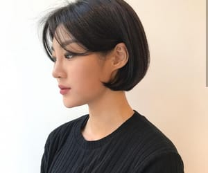 asian girls, piercing, and short hair image