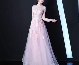 beading, elegant dress, and blushing pink dress image