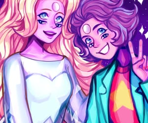 su, rainbow quartz, and steven universe image