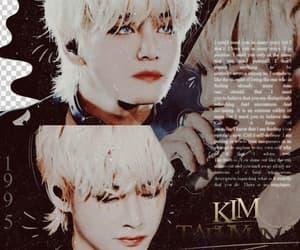 kim, overlay, and bts image