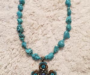 handmade jewelry, turquoise earrings, and blue turquoise image