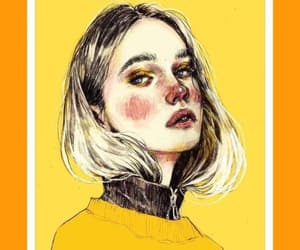 girl, yellow, and cute image