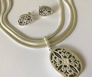 art deco, etsy, and silver chain image