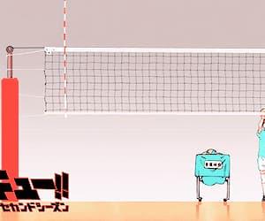 anime, gif, and volleyball image