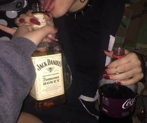 aesthetic, dark, and alcohol image