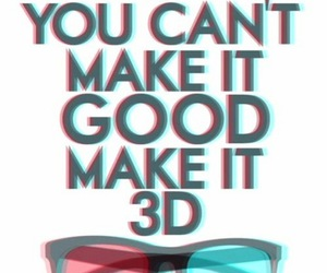 3d, glasses, and good image