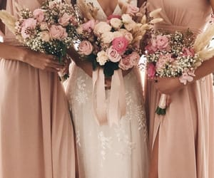 dress, embroidery, and flowers image