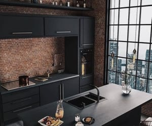 apartment, home, and kitchen image