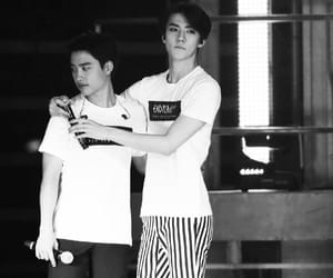 black and white, boys, and kpop image