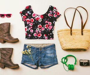 fashion, floral, and simple image