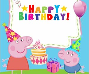 george, happy birthday, and peppa pig image
