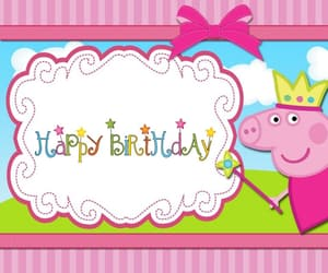 happy birthday and peppa pig image
