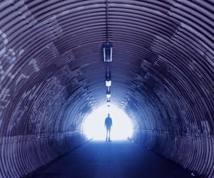 photography, purple, and tunnel image