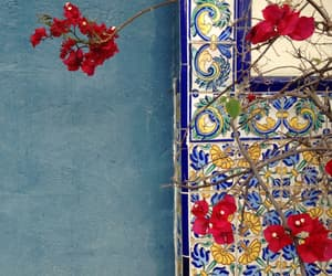blue, designs, and flowers image