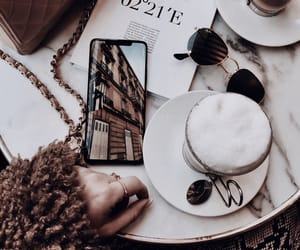 chanel, coffee, and aesthetic image