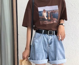 brown, clothes, and shorts image