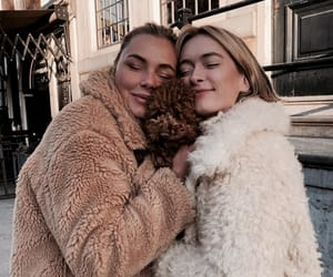 besties, coats, and vibe image