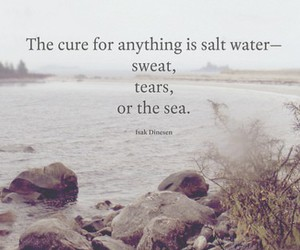 ocean, quote, and sea image