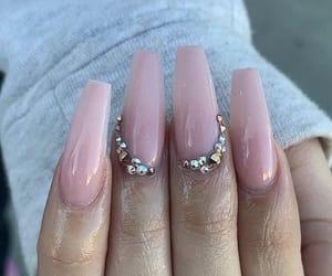 diamonds, manicure, and nail art image