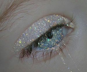 glitter, eyes, and aesthetic image