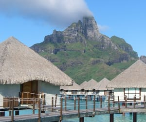 bora bora, travel, and beach image