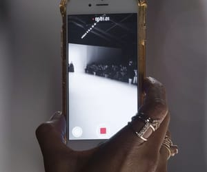 iphone, runway, and tech image