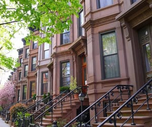 apartment, brownstone, and cities image
