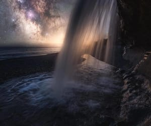 stars and waterfall image