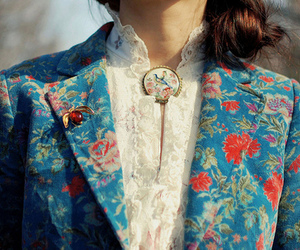 fashion, floral, and vintage image