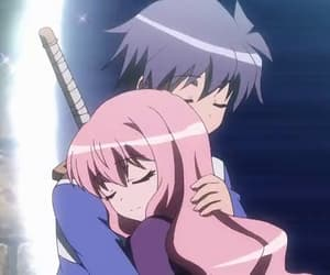 anime, zero no tsukaima, and saito hiraga image