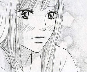 girl, monochrome, and manga image