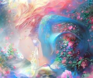 art, mermaid, and wallpaper image