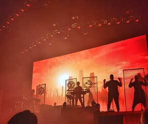 concert, music, and red image