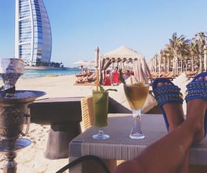 beach, Dubai, and sun image