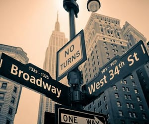 city, new york, and broadway image