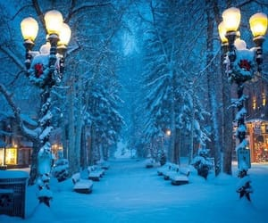 blue, evening, and winter image