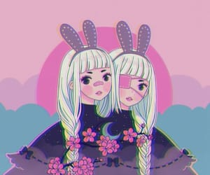 art, bandage, and bunny ears image