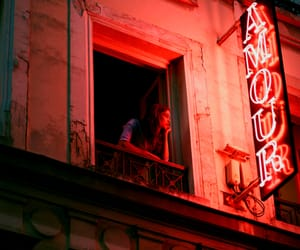 amour, red, and light image