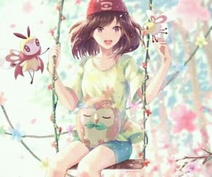 anime, art, and flower image
