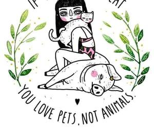 animals, vegan, and nature image