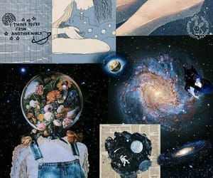 galaxy, planete, and space image