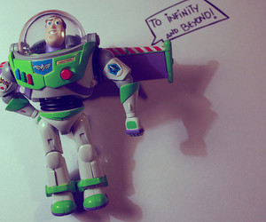 toy story, infinity, and buzz image