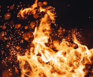 fire, aesthetic, and flame image