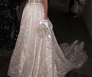 dress, beauty, and glitter image