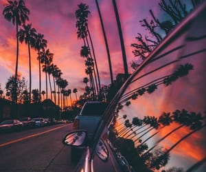 sunset, sky, and pink image
