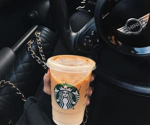 car, coffee, and starbucks image
