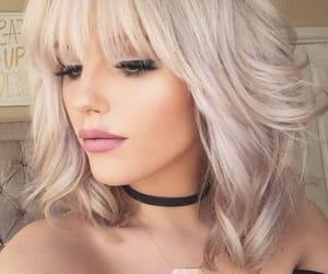 beauty, lipstick, and blonde image